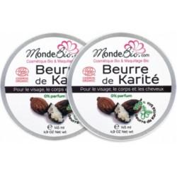 Mondebio Beurre de Karité Bio et Pur Lot de 2x145ml - boite métal les copines bio