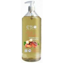 C'Bio Shampooing douche Pêche blanche 1 Litre eau florale de camomille  les copines bio