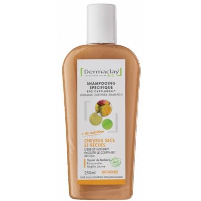 Dermaclay Shampooing Cheveux Secs et Rêches 250 ml les copines bio
