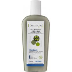 Dermaclay Shampoing Bio Capilargil Pellicules 250 ml huile de cade argile verte Les copines bio