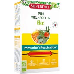 Sève impériale défenses immunitaires et confort respiratoire Bio 20 ampoules de 15ml les copines bio