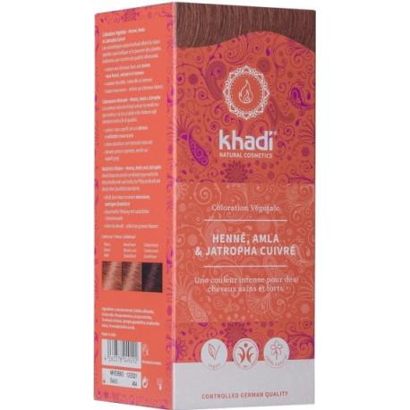 Khadi coloration végétale Henné, Alma, Jatropha Rouge 100gr les copines bio