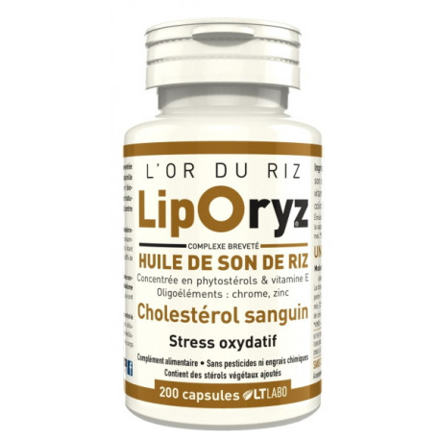 LTLabo Liporyz Huile de Son de Riz 200 capsules stress oxydatif cholesterol les copines bio