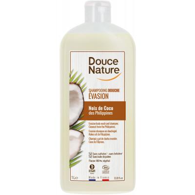 Shampoing douche evasion Noix de Coco des Philippines 1L