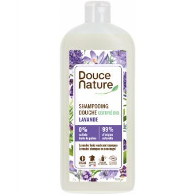 Douce nature shampoing douche au savon de marseille Lavandin 1L Les copines bio