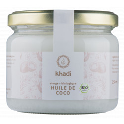 Khadi Huile de coco extra vierge 250gr soin capillaire Les copines bio