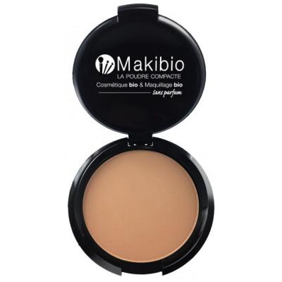 Makibio Poudre compacte dorée 9 gr maquillage minéral maquillage bio les copines bo