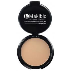 Makibio Poudre compacte Nude 9 gr maquillage minéral maquillage bio les copines bo