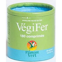Flamant Vert Vegifer 180 comprimés de 500mg spiruline fer Les copines bio