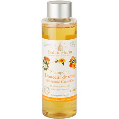 Ballot Flurin Shampoing familial douceur de miel 30% de miel Grand cru 250ml tous types de cheveux les copines bio