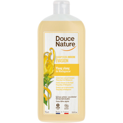 Douce Nature Shampooing Douche Evasion Ylang 1 L les copines bio