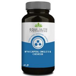 Equi Nutri N° 14 Capital ongles cheveux 60 gélules végétales cystine silicium Les copines bio