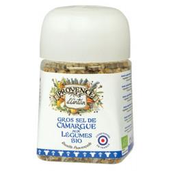 Provence d'Antan Gros sel de Camargue aux légumes bio pot végétal biodégradable 90gr Les copines bio