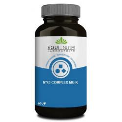 Equi Nutri N°43 complex Mg  K 60 gélules végétales magnesium potassium muscle Les copines bio