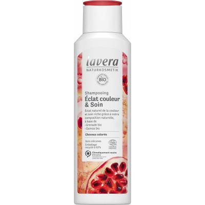 Lavera Shampooing éclat couleur et soin cheveux colorés 250ml quinoa goji canneberge Les copines bio