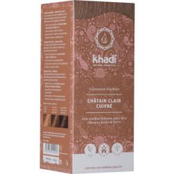 Khadi Coloration végétale Châtain Clair 100gr soin capillaire les copines bio