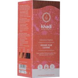 Khadi Coloration végétale Henné Pur cuivré 100gr reflets cuivrés ou acajou Les copines bio