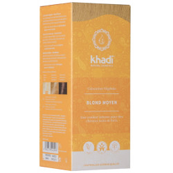 Khadi Coloration Végétale Blond moyen 100gr  coloration capillaire les copines bio
