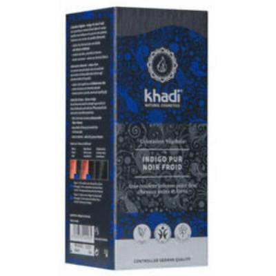 Khadi coloration végétale Indigo Pur Bleu 100gr soin capillaire les copines bio