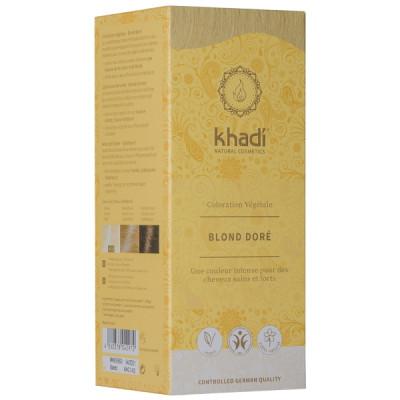 Khadi coloration végétale Blond doré 100gr coloration capillaire Les copines bio