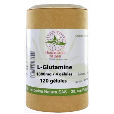 Herboristerie de Paris L Glutamine 120 Gélules hyper perméabilité membranaire intestinale Les copines bio