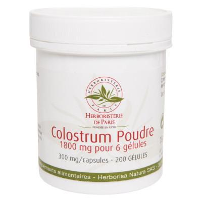Herboristerie de Paris Colostrum Poudre 200 Gélules immunité vitalité tonus les copines bio