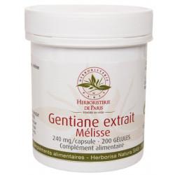 Herboristerie de Paris Gentiane Extrait Mélisse 200 Gélules booste les capacités mentales les copines bio