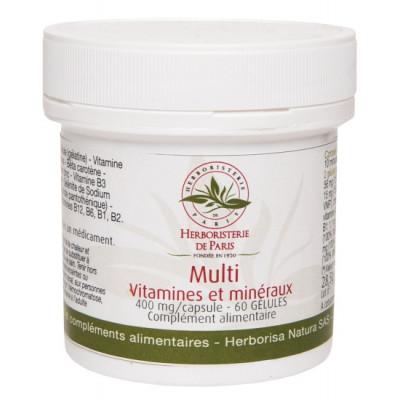 Herboristerie de Paris Multi Vitamines et minéraux 60 Gélules complexe vitaminique et minéral Les copines bio