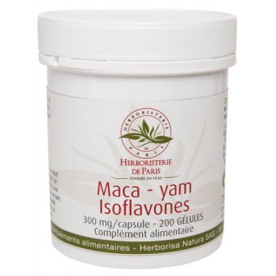 Herboristerie de Paris Maca yam Isoflavones de soja 200 gélules ménopause péri ménopause Les copines bio