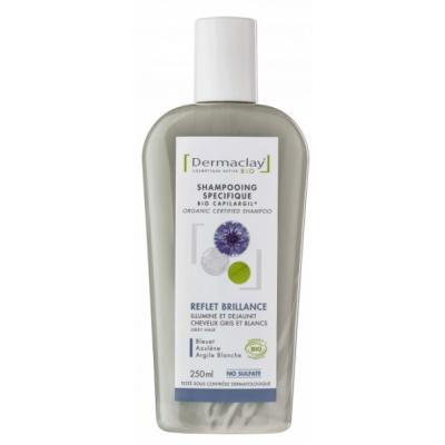 Dermaclay Shampooing Reflet Brillance Cheveux gris, blancs mêchés 250ml Les copines bio