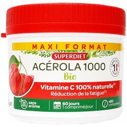 Super Diet Acerola 1000 Format éco 60 comprimés Les copines bio