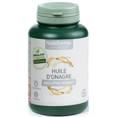 Nat et Form Huile d'onagre Bio 120 capsules acides gras essentiels oméga 6 Les copines bio