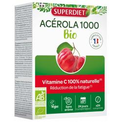 Super Diet Acerola 1000 24 comprimés vitamine C les copines bio