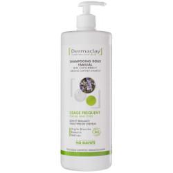 Dermaclay Shampooing doux familial usage fréquent biocapilargil Argile blanche 1L shampoing bio Les copines