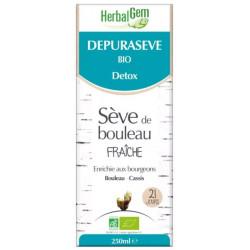 Herbalgem Dépurasève Bio Sève de bouleau bio Flacon 250 ml  effet draineur detox Les copines bio