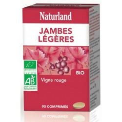 Naturland Vigne rouge Jambes légères 90 comprimés bio anthocyanosides protecteurs Les copines bio