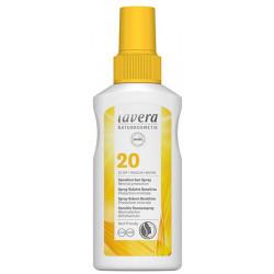 Lavera Spray solaire sensitive SPF 20 100ml protection intermédiaire Les copines bio