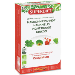 Super Diet quatuor marronnier inde hamamelis vigne rouge ginkgo 20x15ml Les copines bio