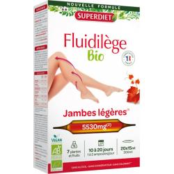 Superdiet Fluidilège bio Circulation, Jambes légères 20 ampoules antioxydants Les copines bio