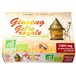 GPH diffusion Gelée Royale Bio et Ginseng Bio 20 ampoules de 10ml vitalité et tonus Les copines bio