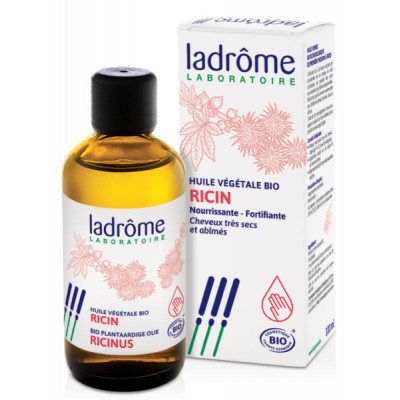 Ladrôme Huile végétale de Ricin bio 100 ml barbe cils cheveux Les copines bio