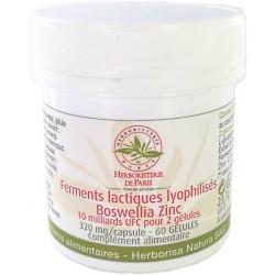 Herboristerie de paris Ferments lactiques lyophilisés Boswellia Zinc MICI 60 Gélules L glutamine Les copines bio