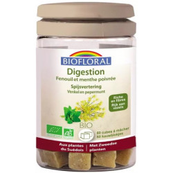 Biofloral Cubes à mâcher Digestion Bio 60 cubes gaz ballonnements Les copines bio