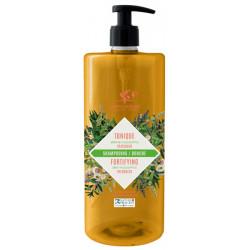 Cosmo Naturel Shampoing douche Tonique 2 en 1 Menthe Eucalyptus 1L shampooing bio Les copines bio