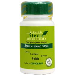 Guayapi Stévia poudre blanche Rébaudioside pur 20gr pouvoir sucrant sans calories Les copines bio