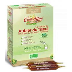 La Gravelline Aubier de tilleul du Roussillon Bio 30 ampoules de 10 ml pure detox pureté dépuratif es copines bio