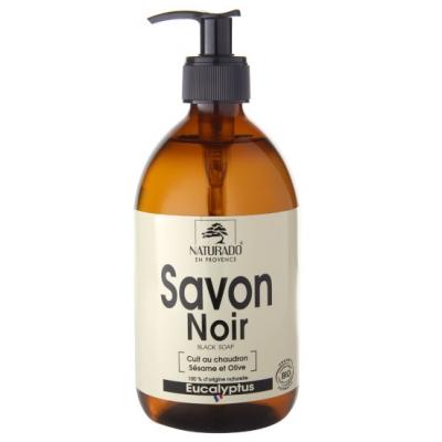 Naturado Savon Noir Douche Eucalyptus 500 ml douceur et hydratation les copines bio