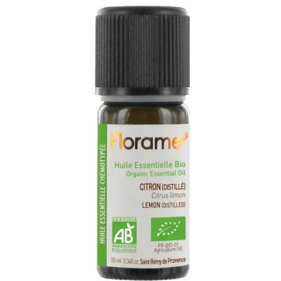 Huile essentielle bio Citron distillé 10ml Florame Les Copines Bio Huile essentielle bio