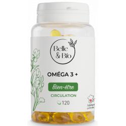 Belle et bio Oméga 3 à 65% 120 capsules soutien circulatoire et cardique Les copines bio huile de poisson