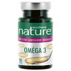 Boutique Nature Omega 3 - 90 capsules acides gras essentiels coeur vaisseaux Les copines bio